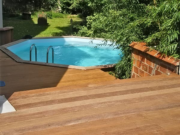 Piscines bois jardins for Jardin 2 niveaux